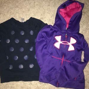 Girls size 5 sweatshirts